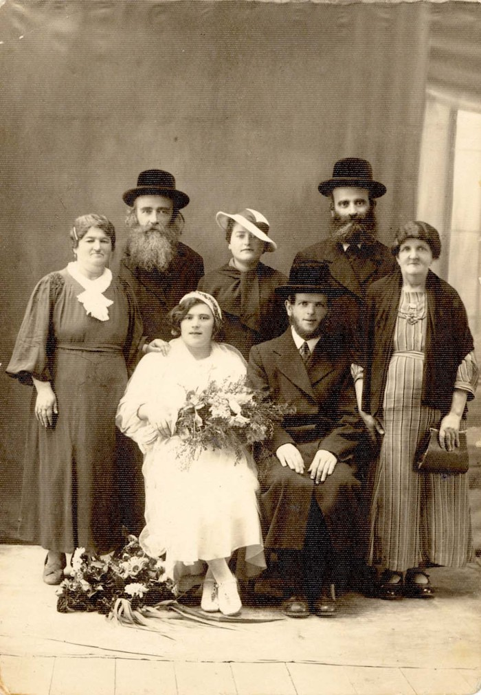 Marriage of Benjamin Hirsch Litwin and Sara Bodenstein, Brzesko, 1937