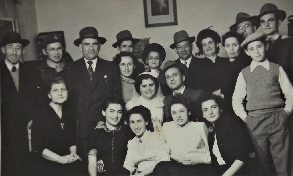 Marriage of  Dov Landau and Szoszana Jakobson, Izrael, March 1953