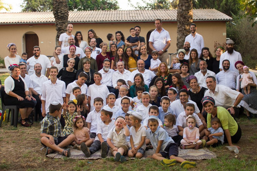 Dov Landau with his children, grandchildren and great-grandchildren,  Izrael, 2017